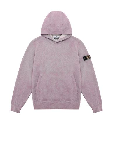 STONE ISLAND TEEN 61044 DUST COLOUR TREATMENT Sweatshirt Man Pink Quartz MELANGE EUR 202
