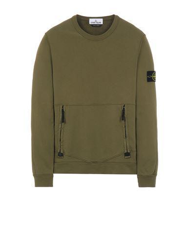 STONE ISLAND 63451 Sweatshirt Man Olive Green EUR 239