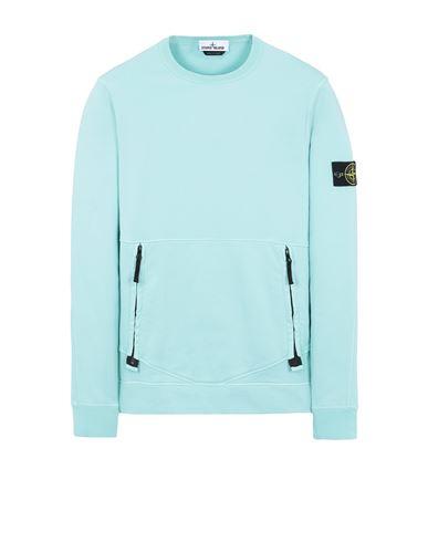 STONE ISLAND 63451 Sweatshirt Man Aqua EUR 239