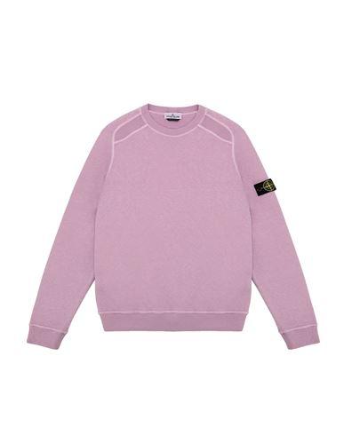 STONE ISLAND TEEN 60641 T.CO + OLD Sweatshirt Man Pink Quartz EUR 118