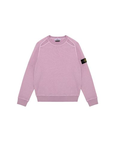 STONE ISLAND JUNIOR 60641 T.CO + OLD Sweatshirt Man Pink Quartz EUR 154