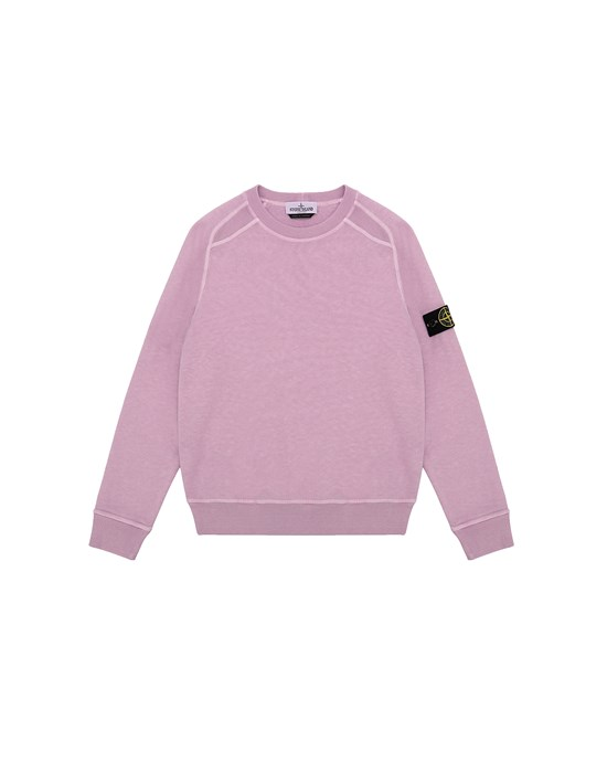 STONE ISLAND JUNIOR 60641 T.CO + OLD Sweatshirt Man Pink Quartz