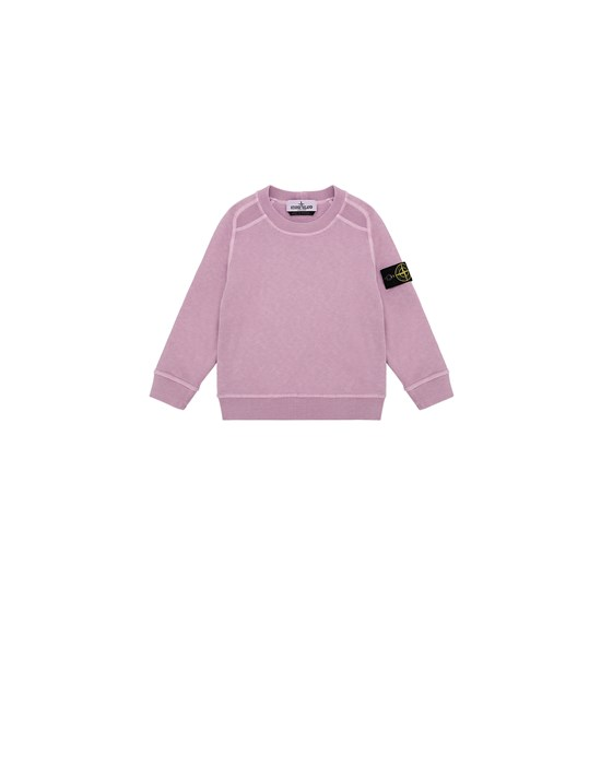 STONE ISLAND BABY 60641 T.CO + OLD Sweatshirt Man Pink Quartz