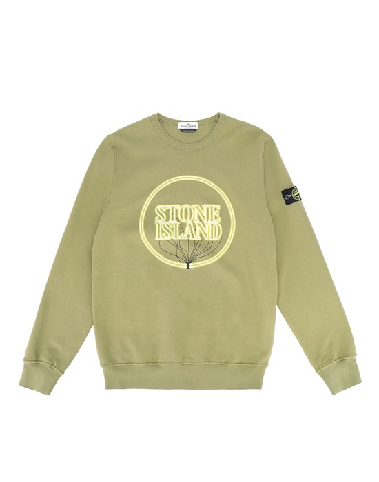 Sweatshirt Man 62340 GLOW-IN-THE-DARK Front STONE ISLAND TEEN