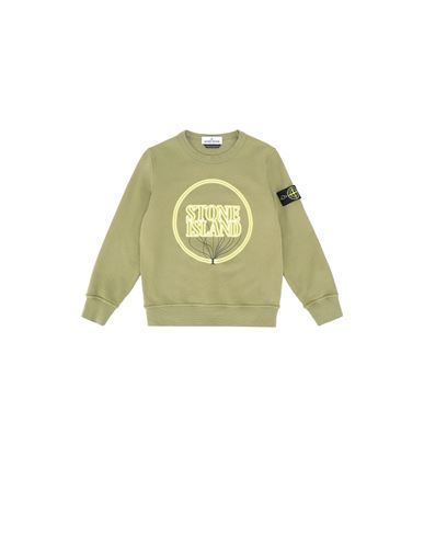 STONE ISLAND KIDS 62340 GLOW-IN-THE-DARK Sweatshirt Homme Vert olive EUR 139