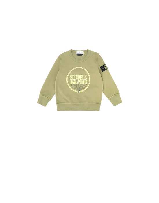 STONE ISLAND BABY 62340 GLOW-IN-THE-DARK Sweatshirt Man Olive Green