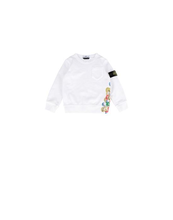 STONE ISLAND BABY 62040 BUBBLE GUM PRINT Sweatshirt Man White
