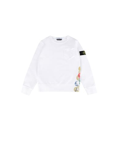 STONE ISLAND KIDS 62040 BUBBLE GUM PRINT Sweatshirt Man White EUR 151