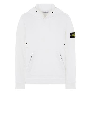 STONE ISLAND 60620 BRUSHED COTTON FLEECE Sweatshirt Man White EUR 335
