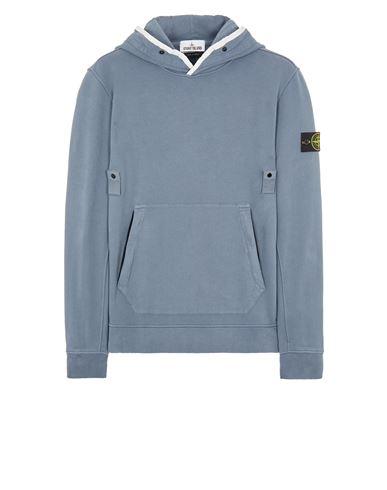 STONE ISLAND 60620 BRUSHED COTTON FLEECE Sweatshirt Man Pastel Blue EUR 335