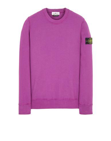 STONE ISLAND 63020 BRUSHED COTTON FLEECE Sweatshirt Man Magenta EUR 215