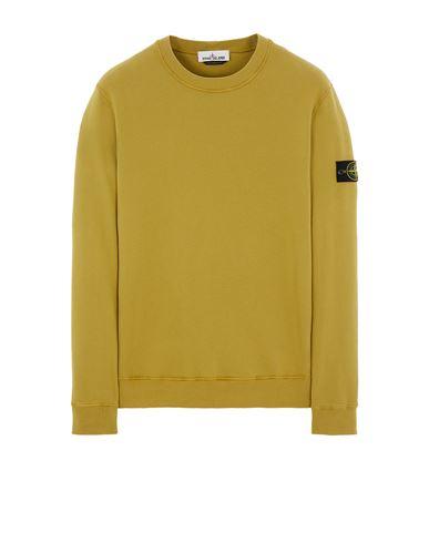 STONE ISLAND 63020 BRUSHED COTTON FLEECE Sweatshirt Man Dark Beige EUR 215