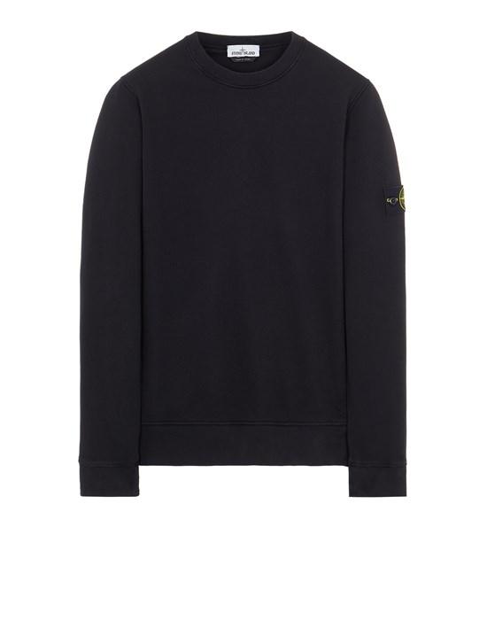 STONE ISLAND 63020 BRUSHED COTTON FLEECE Sweatshirt Man Black