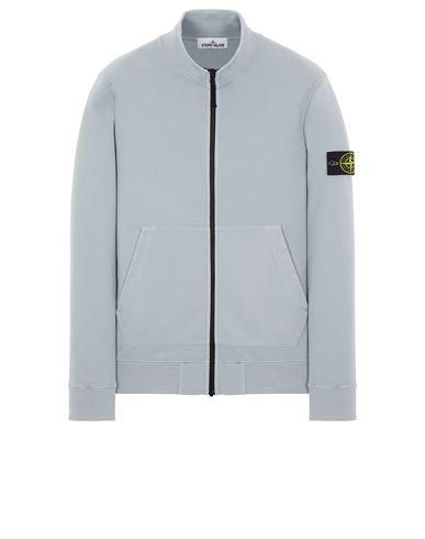 STONE ISLAND 66120 BRUSHED COTTON FLEECE Sweatshirt Man Pearl Grey EUR 255