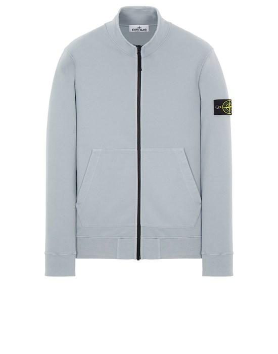 STONE ISLAND 66120 BRUSHED COTTON FLEECE Sweatshirt Man Pearl Gray