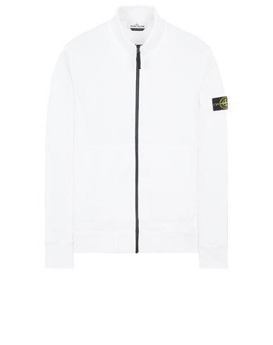 STONE ISLAND 66120 BRUSHED COTTON FLEECE Sweatshirt Man White EUR 255