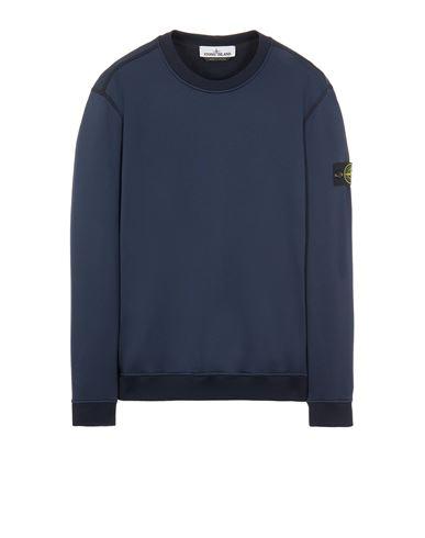 STONE ISLAND 63547 COTTON NYLON FLEECE Sweatshirt Man Blue EUR 249