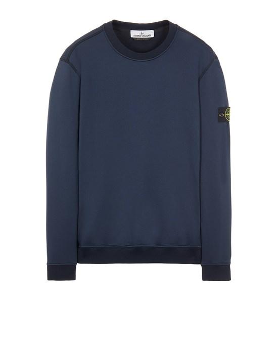STONE ISLAND 63547 COTTON NYLON FLEECE Sweatshirt Man Blue