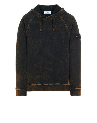 STONE ISLAND 61338 COTTON FLEECE + OFF-DYE OVD TREATMENT Sweatshirt Man Orange USD 311