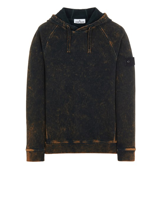 Sweatshirt Man 61338 COTTON FLEECE + OFF-DYE OVD TREATMENT Front STONE ISLAND