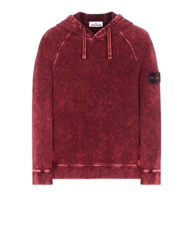 STONE ISLAND 61338 COTTON FLEECE + OFF-DYE OVD TREATMENT Sweatshirt Man Maroon EUR 309