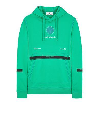 STONE ISLAND 65495 GAUZED COTTON JERSEY_ 'ULTRA INSTITUTIONAL FOUR-FIVE' PRINT Sweatshirt Man Green EUR 255