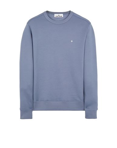 STONE ISLAND 65735 ORGANIC COTTON/ SEAQUAL® POLYESTER YARN  Sweatshirt Man Pastel Blue EUR 229