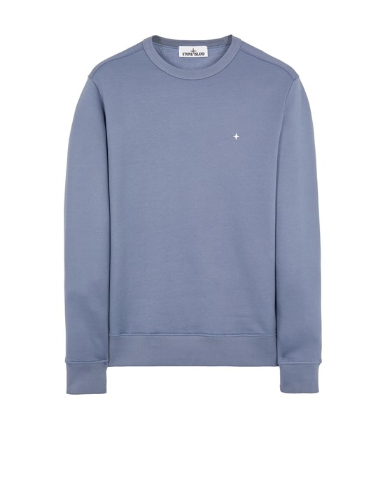 Sweatshirt Man 65735 ORGANIC COTTON/ SEAQUAL® POLYESTER YARN Front STONE ISLAND