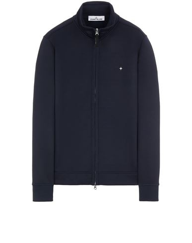 STONE ISLAND 61735 ORGANIC COTTON/ SEAQUAL® POLYESTER YARN Sweatshirt Man Blue EUR 255
