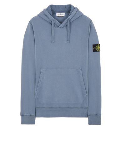 STONE ISLAND 64120 BRUSHED COTTON FLEECE Sweatshirt Man Pastel Blue EUR 255