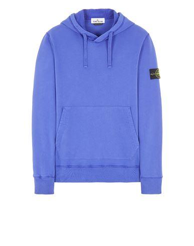 STONE ISLAND 64120 BRUSHED COTTON FLEECE Sweatshirt Man Periwinkle EUR 224