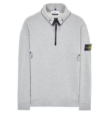 STONE ISLAND 60720 BRUSHED COTTON FLEECE Sweatshirt Man DUST MELANGE EUR 279