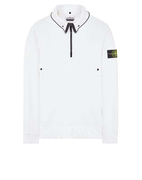 STONE ISLAND 60720 BRUSHED COTTON FLEECE Sweatshirt Man White