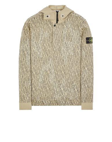 STONE ISLAND 653E3 COTTON FLEECE 'RAIN CAMO' PRINT Sweatshirt Man Ecru EUR 535