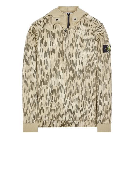 STONE ISLAND 653E3 COTTON FLEECE 'RAIN CAMO' PRINT Sweatshirt Man Ecru