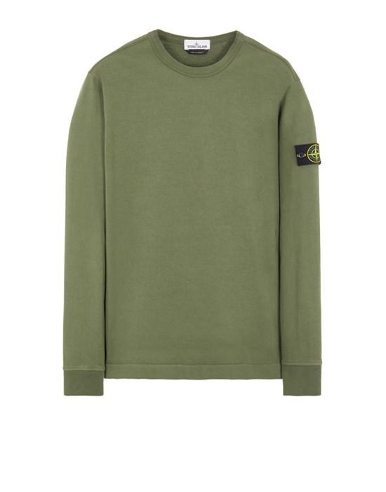 STONE ISLAND 64450 GAUZED COTTON JERSEY Sweatshirt Man Sage Green