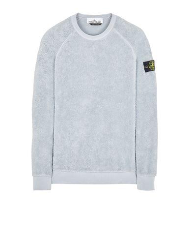 STONE ISLAND 60234 COTTON PILE Sweatshirt Man Pearl Grey EUR 359