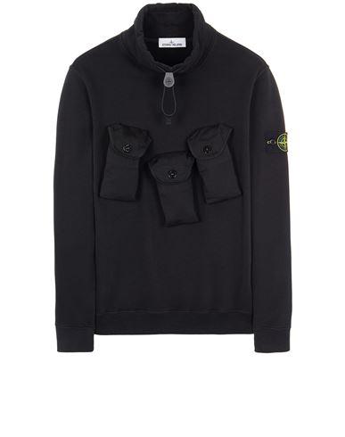 STONE ISLAND 60519 BRUSHED COTTON FLEECE Sweatshirt Herr Schwarz EUR 295