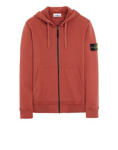 STONE ISLAND 64220 BRUSHED COTTON FLEECE Sweatshirt Man Brick red EUR 279