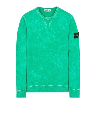 STONE ISLAND 61538 COTTON FLEECE + OFF-DYE OVD TREATMENT Sweatshirt Man Green USD 271