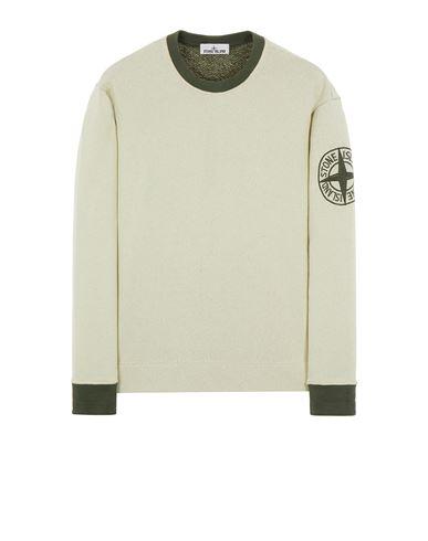 STONE ISLAND 61237 DIAGONAL WEAVED POLYESTER COTTON FLEECE Sweatshirt Man Sage Green USD 407