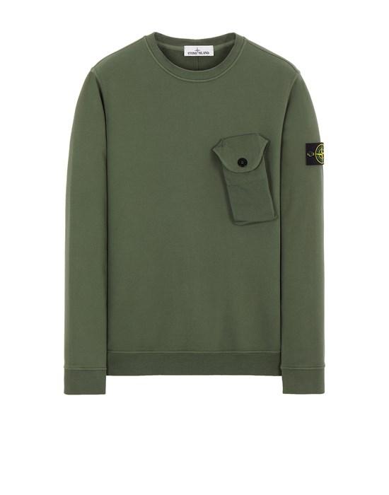 STONE ISLAND 60419 BRUSHED COTTON FLEECE Sweatshirt Man Sage Green