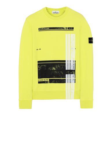 STONE ISLAND 63095 'BLOCK SWEATSHIRT'  Sweatshirt Man Pistachio Green USD 341