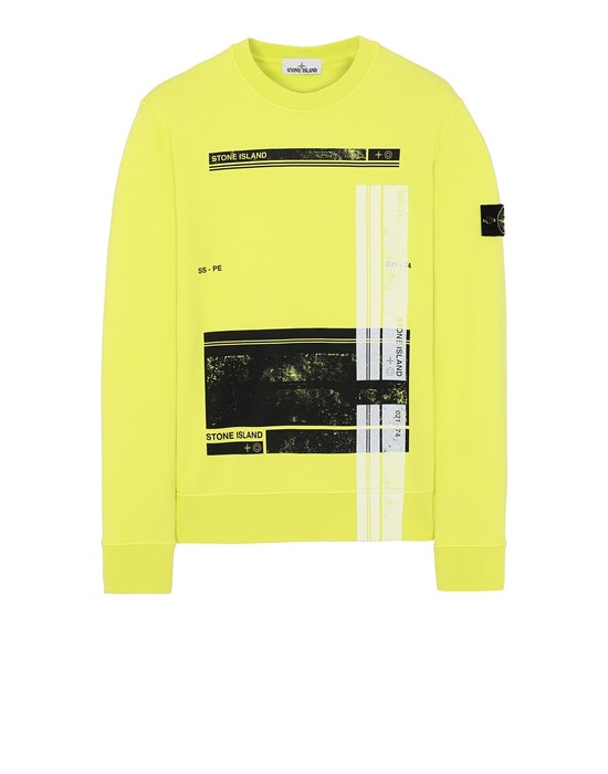 STONE ISLAND 63095 'BLOCK SWEATSHIRT'  Sweatshirt Herr Pistaziengrün