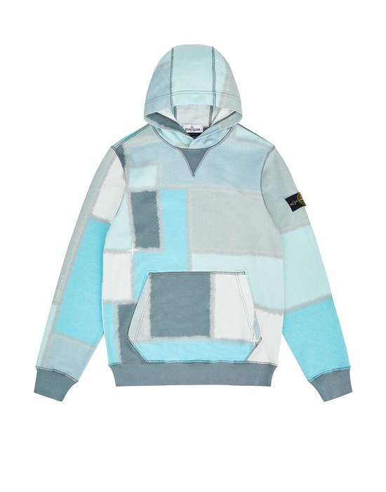 STONE ISLAND JUNIOR 62145 URBAN CAMOUFLAGE Sweatshirt Man Dust Grey