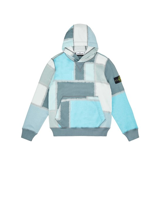 STONE ISLAND JUNIOR 62145 URBAN CAMOUFLAGE Sweatshirt Man Dust Gray