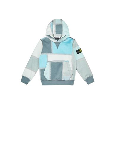 STONE ISLAND KIDS 62145 URBAN CAMOUFLAGE Sweatshirt Man Dust Grey EUR 205