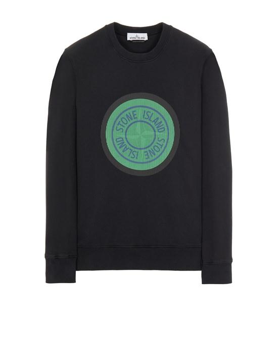Sweatshirt Man 63086 BRUSHED COTTON FLEECE_'LENTICULAR ONE' PRINT Front STONE ISLAND