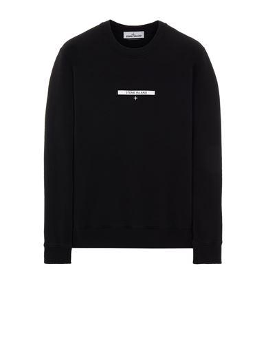 STONE ISLAND 63085 BRUSHED COTTON FLEECE_'MICRO GRAPHICS TWO' PRINT Sweatshirt Man Black EUR 215