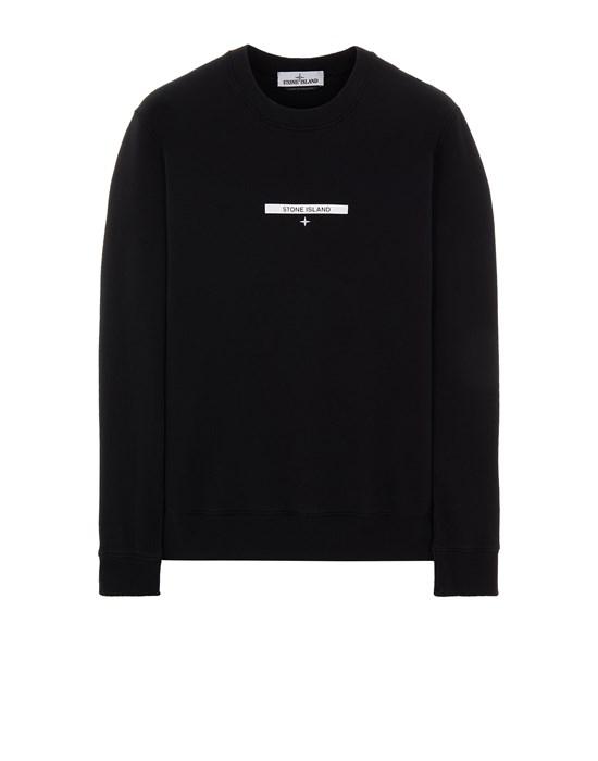 Sweatshirt Man 63085 BRUSHED COTTON FLEECE_'MICRO GRAPHICS TWO' PRINT Front STONE ISLAND